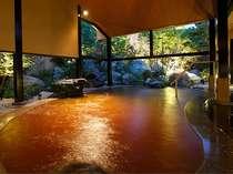 ■桧香の湯(華咲の湯内)/自家源泉のみを使用した「かんざんじ黄金(こがね)の湯」
