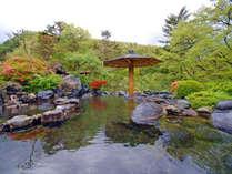 露天風呂(瑠璃の湯)グリーンシーズンは青々と茂った山々を眺めながらご入浴ください。