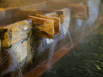 【温泉イメージ】「硫酸塩泉」は薬の湯、豊富な湯量の100%源泉かけ流し♪