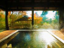 「硫酸塩泉」溢れる大浴場は薬効の湯、皮膚病や外傷に効く、優しい泉質は妊婦さんや赤ちゃんの肌にも安心!