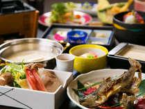 ■渓流魚×豆乳海鮮しゃぶしゃぶ■山海の恵みを味わう豆富懐石♪新鮮な渓流魚と沼津直送の魚介を味わう。