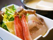 【海鮮しゃぶしゃぶ】新鮮な魚介を使った豆乳しゃぶしゃぶもご用意しております♪