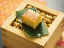 ■料理一例■スモークド豆富イメージ。豆富珍品の中の一品。このために当館を訪れる人がいるほど人気。