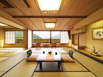 ■湖側特別室 和室二間■ 石庭から湖畔の景観を一望する和室二間