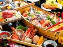 【舟盛りプラン】関あじの姿造りがメインの会席料理/例