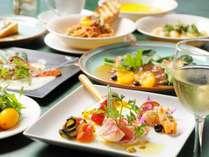 スタンダードな夕食 イタリアン マルサラ風フルコーススタイル 食前酒からドルチェまで
