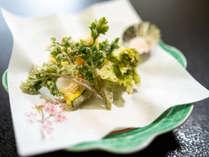 季節の地野菜や山菜をお楽しみいただく天ぷら