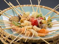 【夕食バイキング】北海道産串揚げアラカルト
