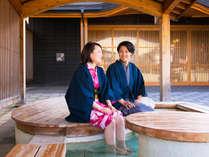 ■足湯■和倉街中には足湯も♪散歩してる途中、温泉での癒しにほっとするね♪