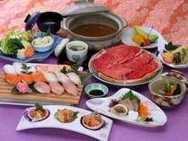 みんな大好き『握り寿司』『牛しゃぶ』が食べ放題! 【握り寿司と牛しゃぶ食べ放題プラン】