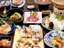 <12月~3月>海鮮コラーゲン鍋や牛肉の陶板焼きなど全12品「満足三昧会席」