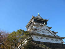 ホテルより徒歩約5分にそびえ立つ小倉城