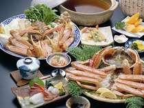 日本海冬の幸、松葉かに御膳プラン (バストイレ付)