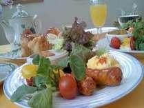 シルクウッドの朝食(^ω^)爽やかにボリュームも満点♪