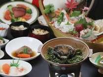 瓶ドン【活磯】と岩手県産アワビの踊り焼き・フカヒレ・真鱈たっぷり汁和食膳プラン♪