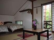 一番人気の和洋室です、2or3ベットでそれ以上はお布団でお休みいただきます。