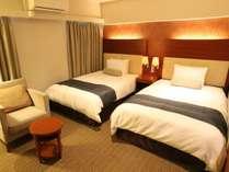 モデレートツインの一例 広さ23平米~ ベッド幅1200mm 定員1~2名