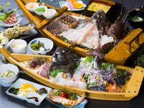 おこぜ会席(極)は、日向屋のあらゆる食材を一度に堪能できます♪豊後水道の魚介を一気に堪能ください♪