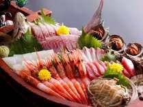 【通年】新鮮な丹後の魚介類をふんだんに使用した、舟盛り/4人前例