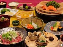 野沢温泉のふるさとの味覚と、信州牛など長野のブランド素材のコラボレーション。