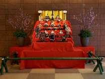 【別館1階】正面ロビー 雛祭り