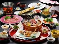 新潟のフードブランド『厳選のA5村上牛』◆『日本海の高級魚のど黒』付「美食饗宴会席」