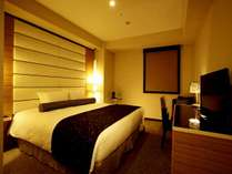 【ABENOシティエグゼクティブダブル】当ホテル最大200cm幅のベッドを採用!