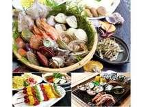 【じゃらん限定特典付】地元食材&肉類ブロシェット付BBQ(伊勢志摩海鮮)プラン・お子様歓迎/カード決済