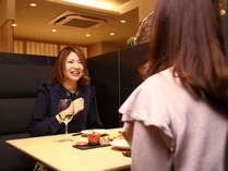 【ホテル1階レストラン 梅田璃泉】BOX席もございます。