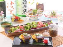 【ホテル1階レストラン 梅田璃泉】料理長おすすめ旬を味わう一品をご用意。お一人様でもお気軽に