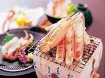 ■■夕食例■■  【焼き蟹】 蟹の香ばしさが広がります!モチロン味も大満足♪