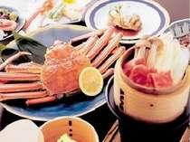 ■■夕食例■■ 【お手軽かに会席】 姿蟹1枚付きでお手軽以上の内容です!