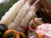 ■■夕食例■■ 【タグ付き蟹刺身】 自慢の一品です!本当の蟹の美味しさに出合えます!