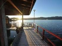 ☆湖上露天風呂☆【朝陽:日の出】露天風呂から見るサンライズは絶景♪