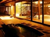 ■貸切風呂 あけび■自然浴離れの湯「あけび」・足湯(夜景)