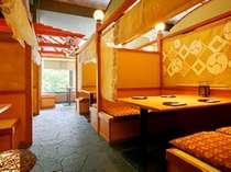 ■お食事処「都味喜(つみき)」■ビュッフェ会場では珍しい個室風のお席。