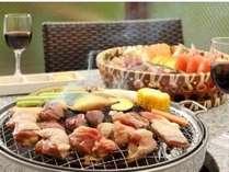 ■お食事処 山餐(さんさん)亭■名古屋コーチンを使った桟敷炙り(さじきあぶり)