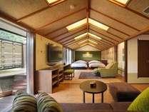 ■露天風呂付客室 翠(すい)■2012年春リニューアルオープンの露天風呂付客室。山側客室イメージ