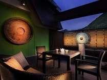 ■露天風呂付客室 翠(すい)■2012年春リニューアルオープンの「翠」(ツイン専用バルコニー)
