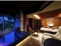■展望風呂付コーナースウィートはんなりツイン■展望風呂付客室。洋室ツインタイプ