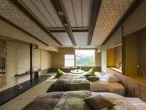 ■ゆくり■A・Bタイプ共にシーリー社製ベッド2台ご用意。※2名様以上はお布団になります。