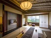 ■はんなり10畳タイプ■2015年3月リニューアルオープンの新客室。4名定員。絶景の鬼怒川渓谷側のお部屋