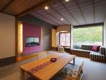 百華スタンダード(シャワーブース付)20平米(和室10畳渓谷側) 客室一例