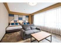 プレミアムツインダブルサイズのベッド(1390*1960*210)×2、ソファーベッド×1