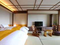 29年7月15日オープン半露天風呂付和洋室客室 【 山蕗 】