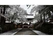 ◆高野山・金剛峯寺(冬)。幻想的な雰囲気です。ホテルより車・電車とも約60分。