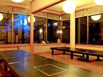 ■お食事処【きじ亭】■お席はすべて堀ごたつ♪楽な姿勢でお食事をお愉しみいただけます。