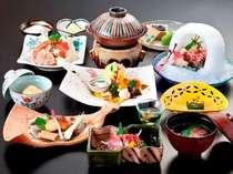 水鏡庵の創作会席-一例- 季節の食材と料理長のオリジナリティあふれる会席料理です。