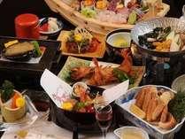【雅の膳】活鮑踊り焼き・刺身舟盛付 地場素材を中心とした懐石料理をお部屋食でゆったりと…