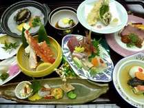 【輝の膳】お品書き(2)のお料理がこちらのお食事になります。(一例)